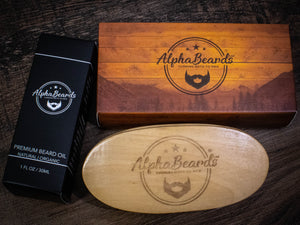 Alpha Beards Double Trouble (30ml Beard Oil And Beard Brush)