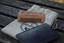 Load image into Gallery viewer, Alpha Beards Wooden Beard Comb, Including Travel Cloth Bag