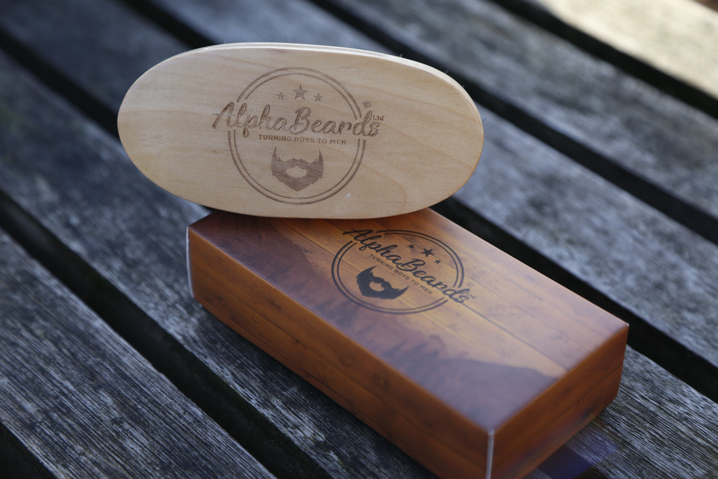 Alpha Beards Pear Wood Beard Brush