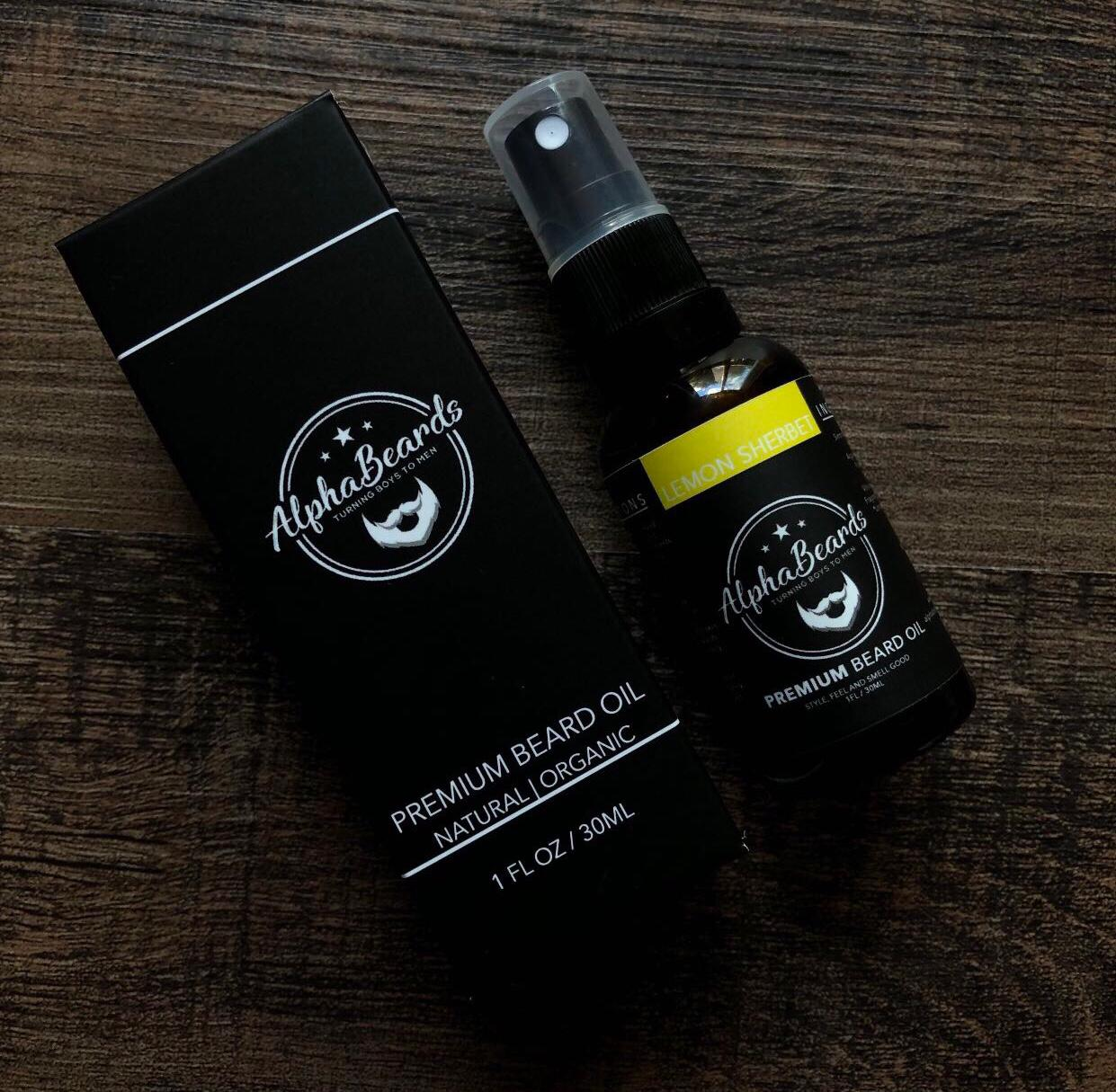 Alpha Beards Premium Beard Oil (Exclusive) Lemon Sherbet 30ml