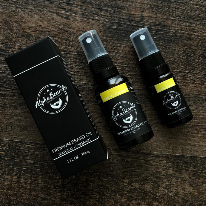 Alpha Beards Premium Beard Oil (Exclusive) Lemon Sherbet 10ml