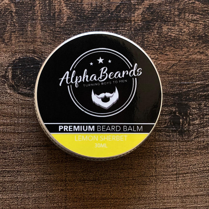 Alpha Beards Premium Beard Balm (Exclusive) Lemon Sherbet 30ml / 1fl oz