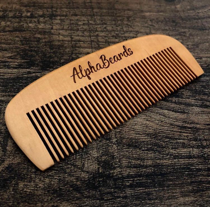Alpha Beards Large Pear Wooden Beard Comb