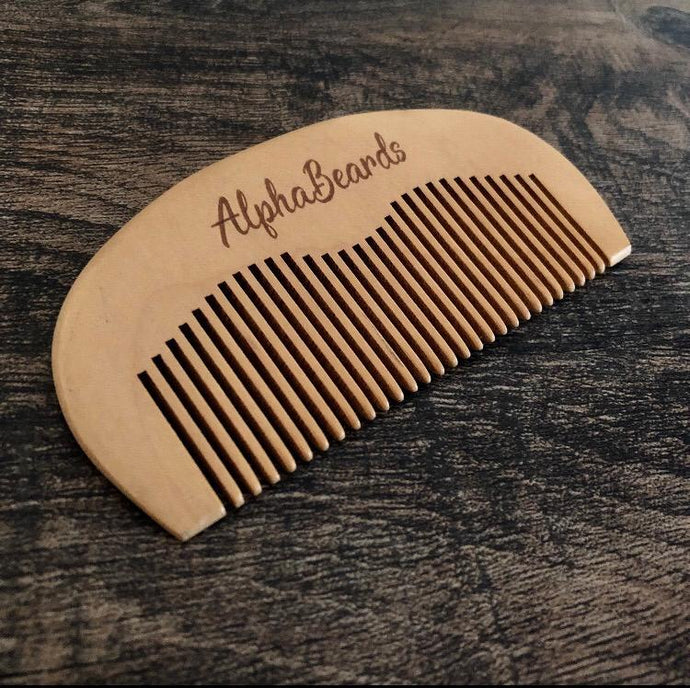 Alpha Beard Pocket Pear Wood Beard Comb