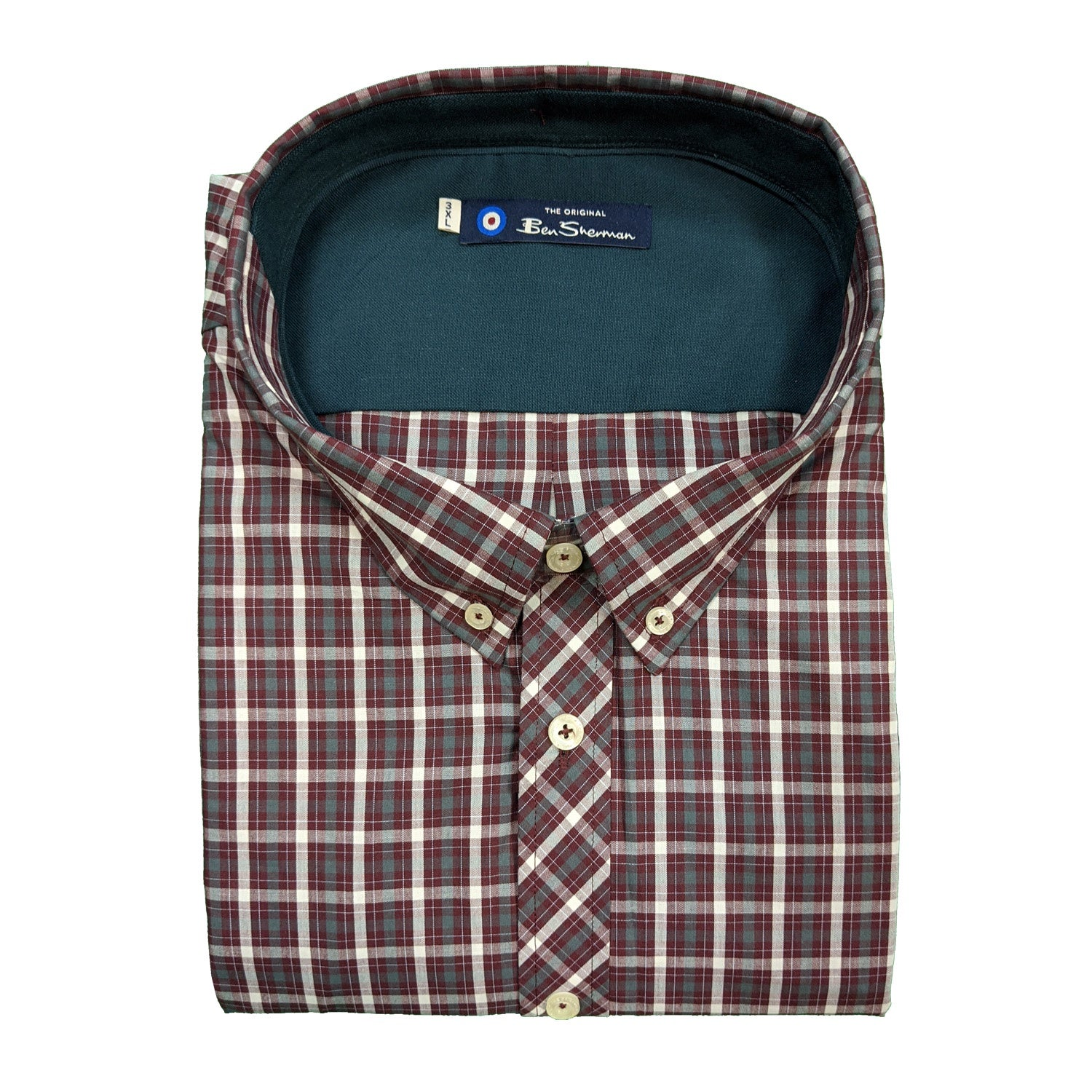 Ben Sherman L/S Shirt - 0048563IL - Wine