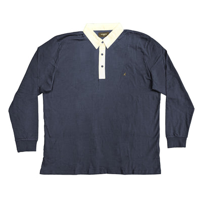Kangol L/S Rugby Polo - Sven - Navy