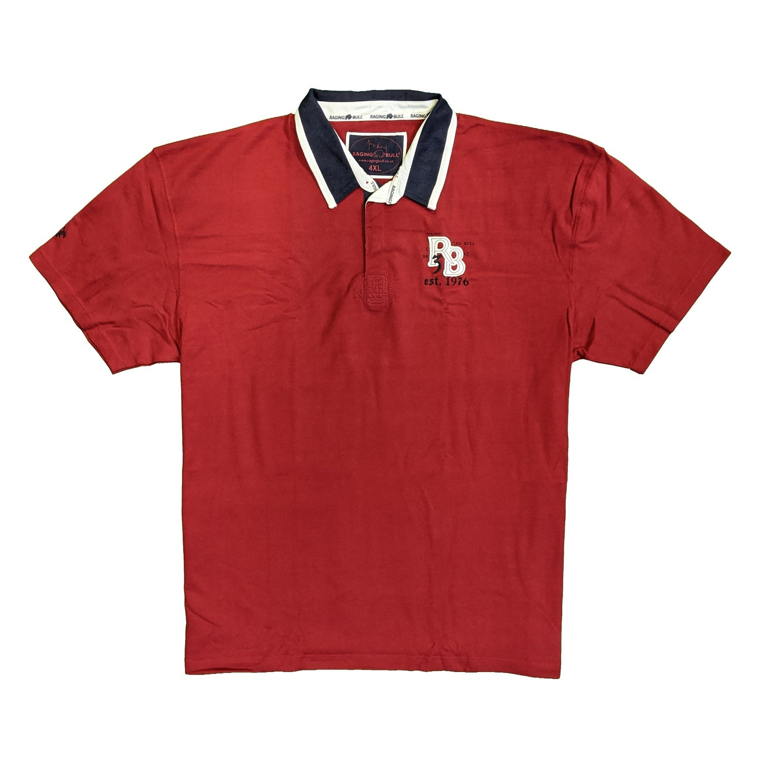 Raging Bull Rugby Polo - SS1332 - Wine 1