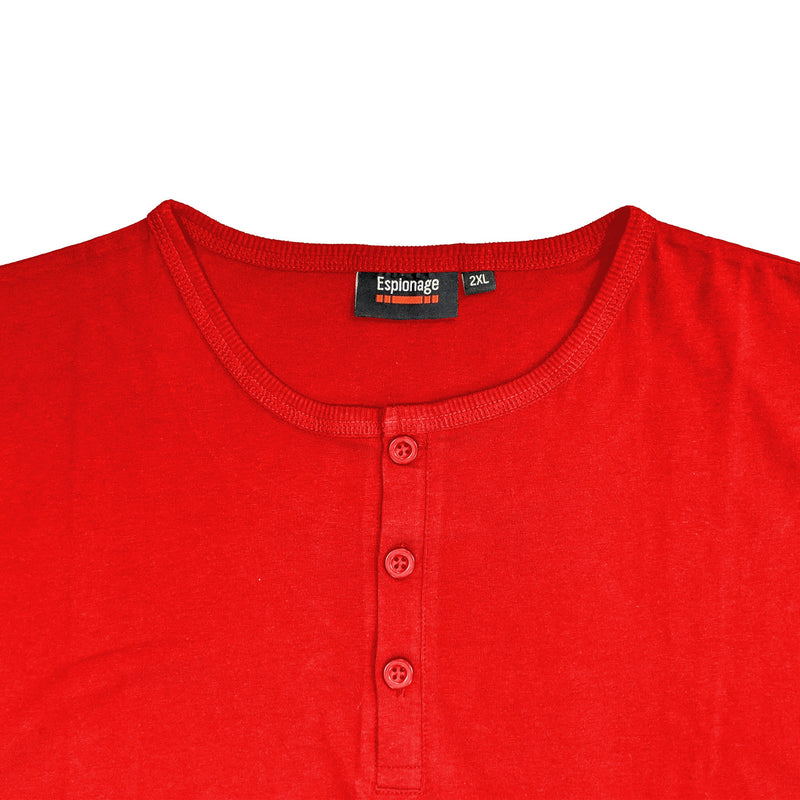 Espionage Grandad Tee - T184 - Tomato Red 1