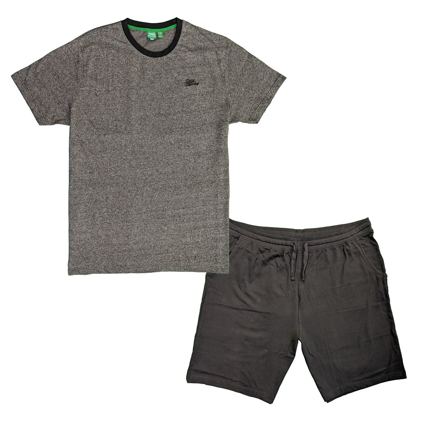 D555 PJs (T-Shirt & Shorts) - KS70742 - Tyson - Grey / Black 1