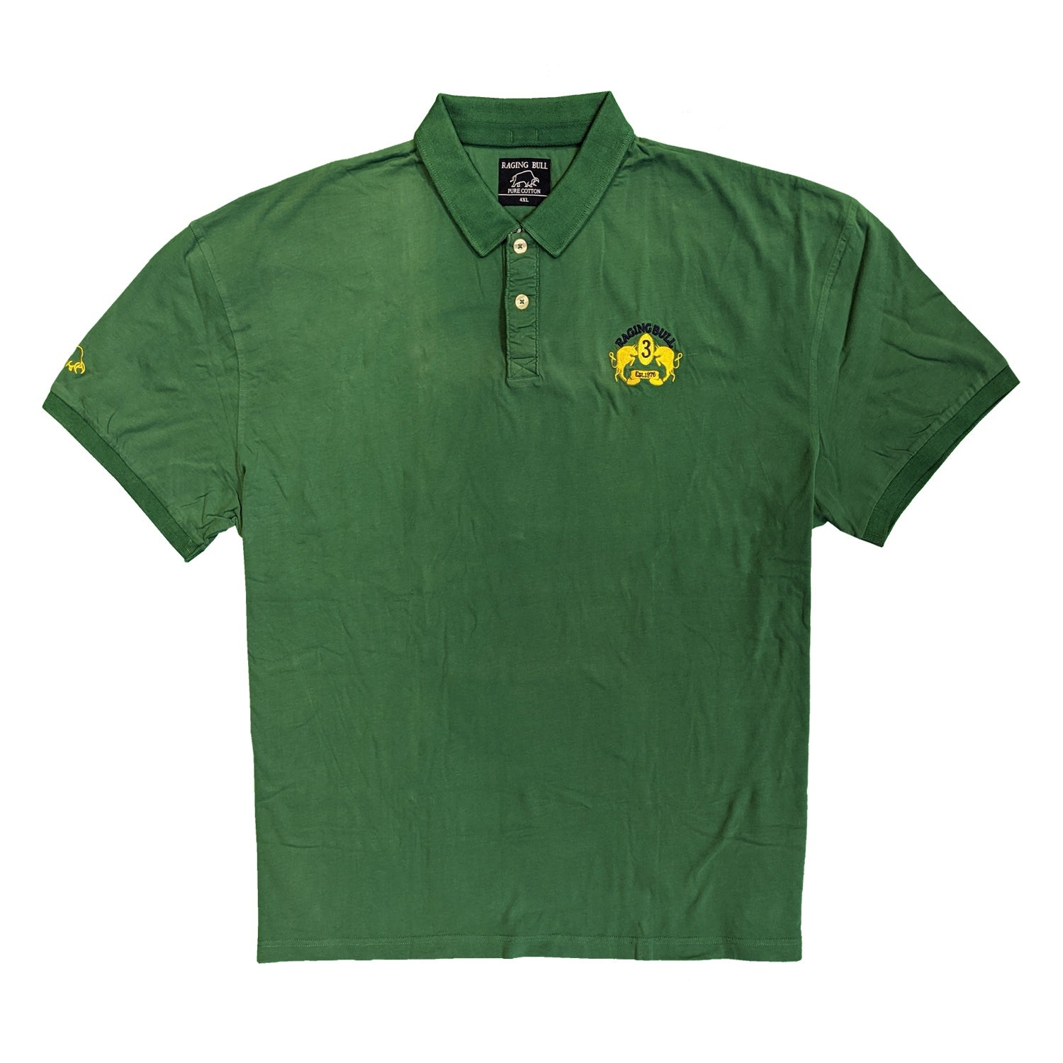 Raging Bull Trad Crest Jersey Polo - AW1213 - Forest Green 1
