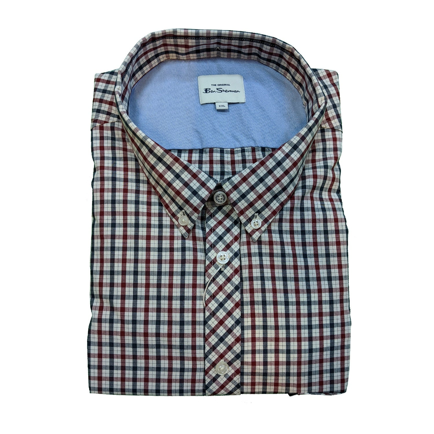 Ben Sherman S/S Shirt - 0059144IL - Red 1