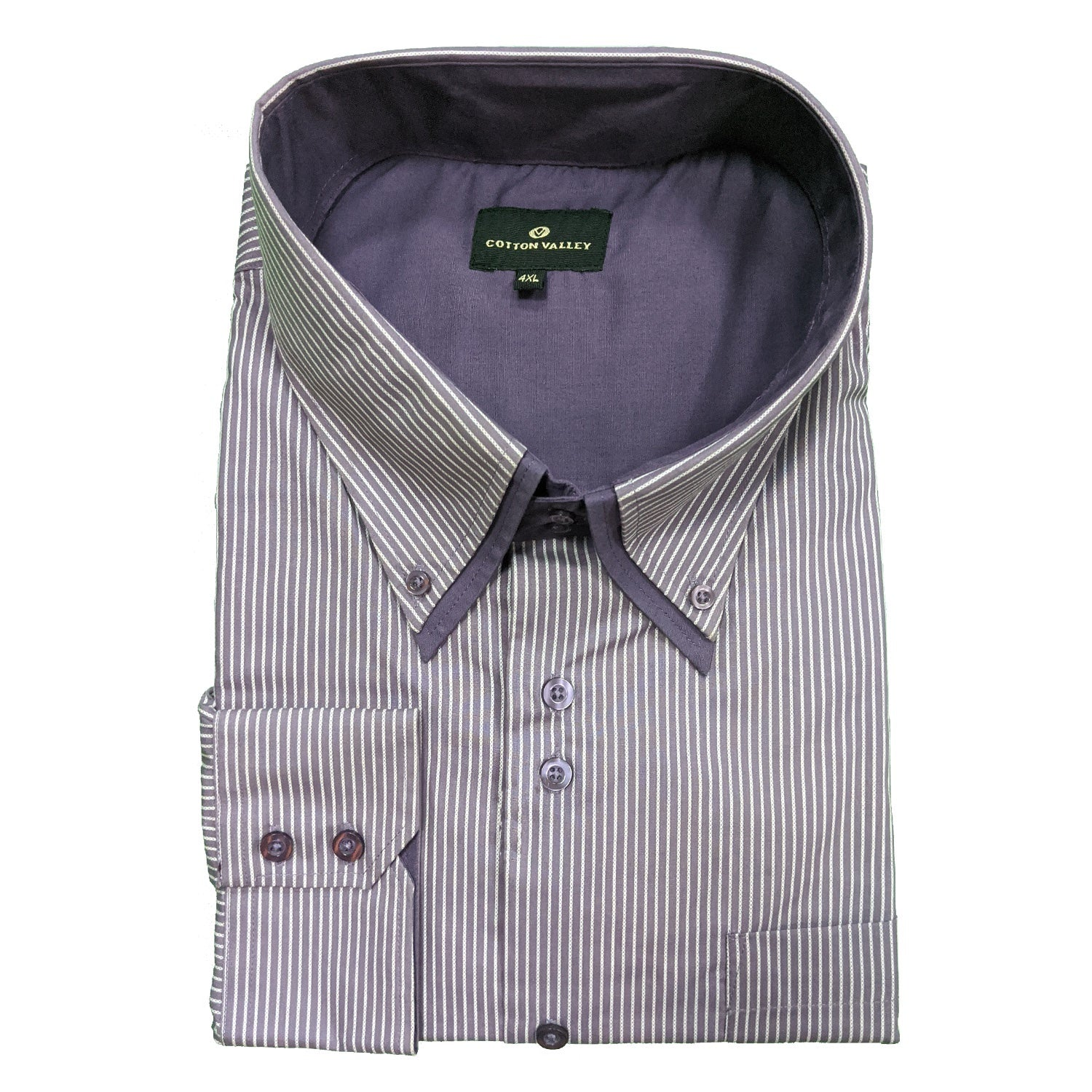 Cotton Valley L/S Stripe Shirt - 15544 - Purple 1