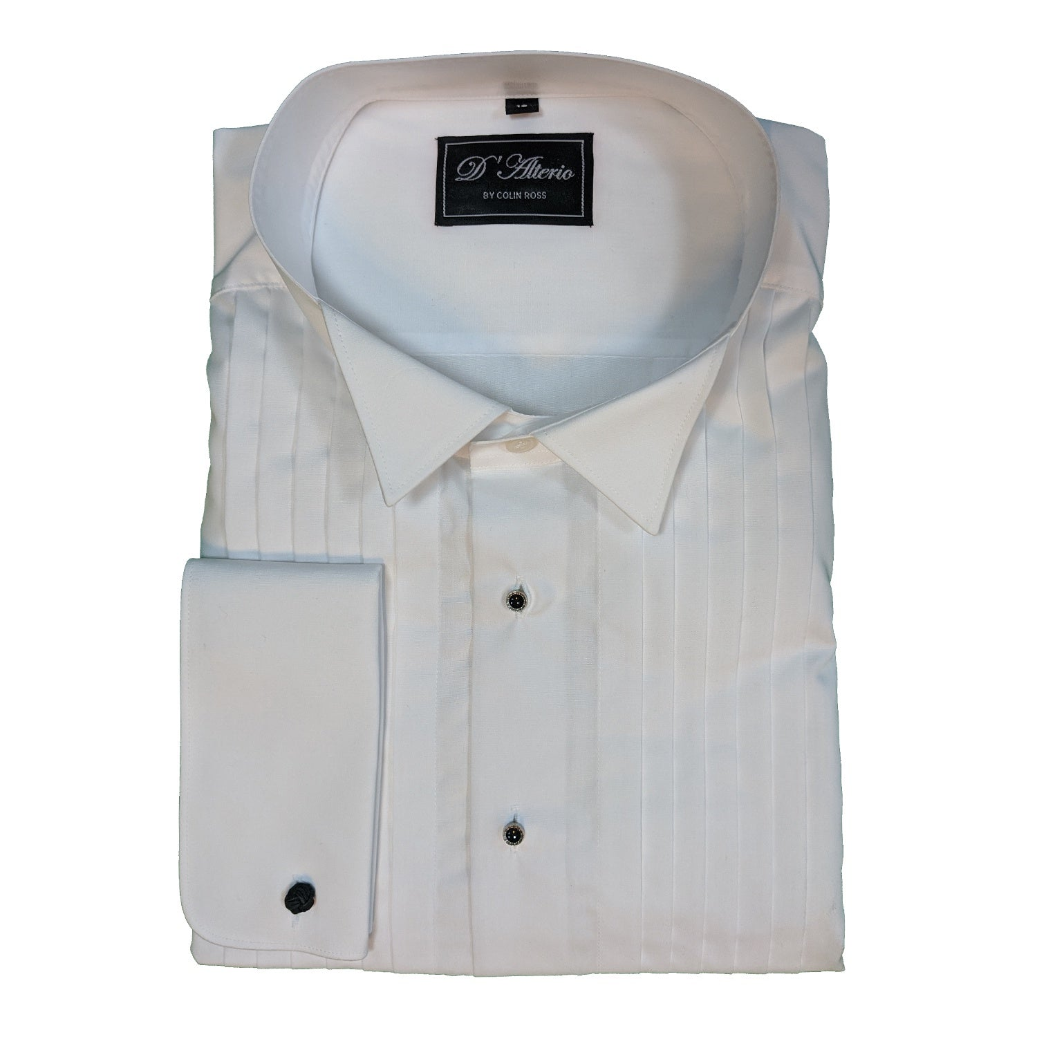 D'Alterio Wing Collar Dress Shirt - 21839 - White 1