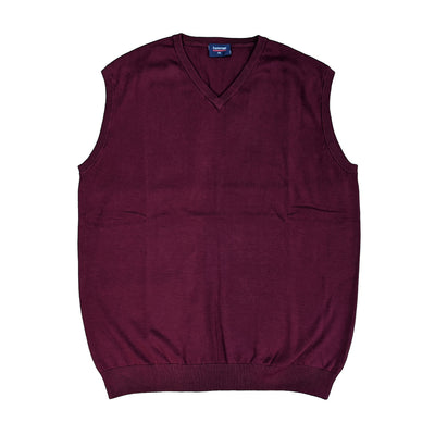 Espionage V Neck Sleeveless Pullover - KW032 - Brick 1
