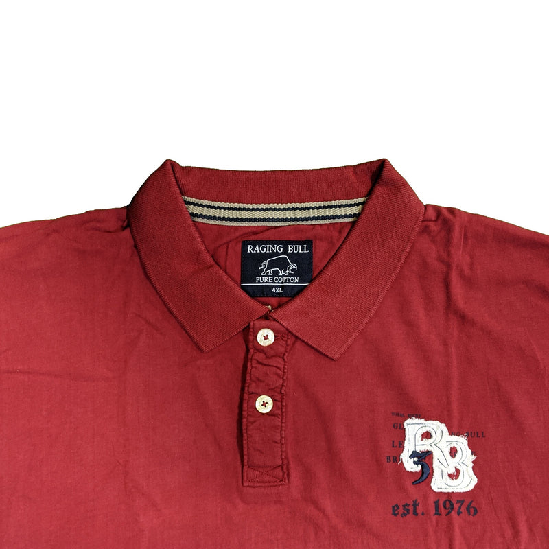 Raging Bull Applique Polo - SS1324 - Wine 1