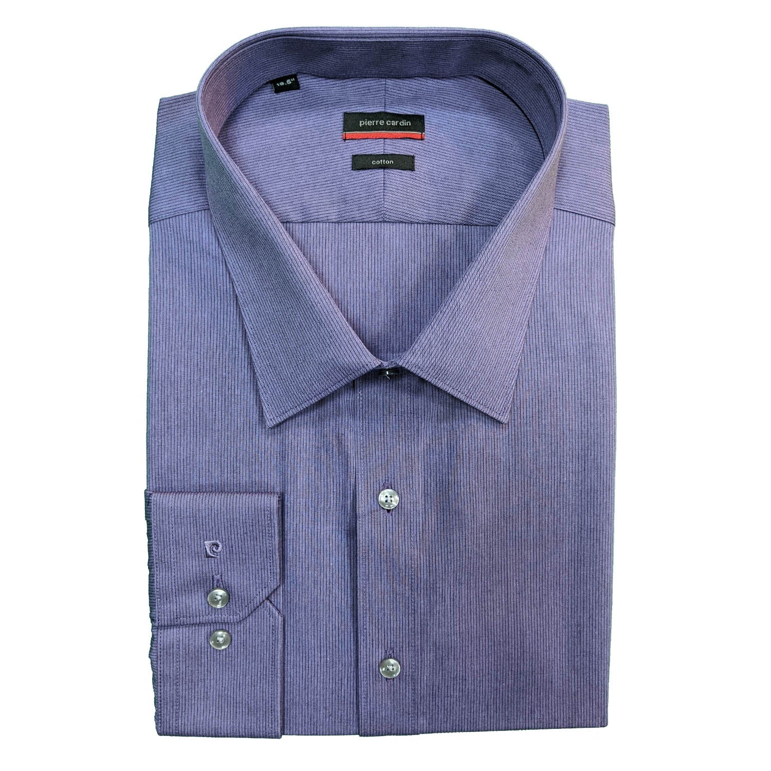 Pierre Cardin L/S Stripe Shirt - 45208500 - Purple 1