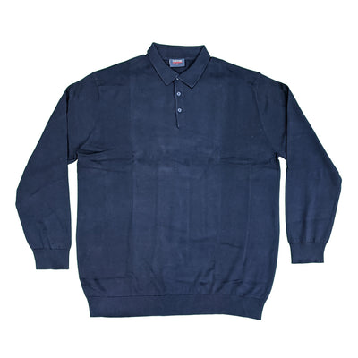 Espionage Long Sleeve Polo Jumper - KW058 - Navy 1