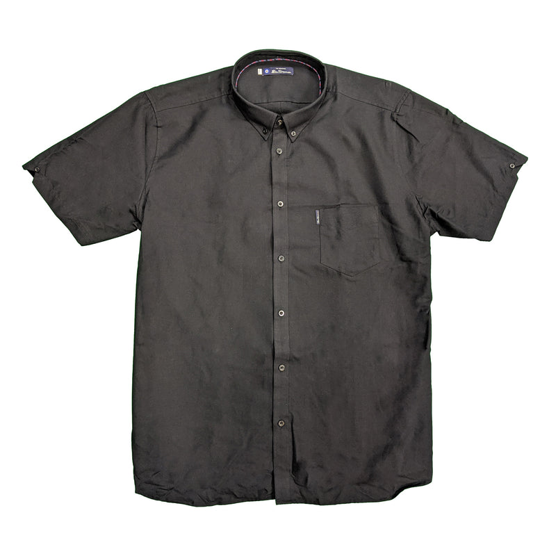 Ben Sherman S/S Oxford Shirt - 0048580IL - Black