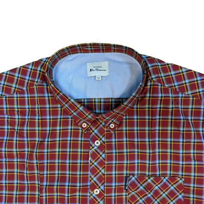 Ben Sherman S/S Shirt - 0059086IL - Red 3
