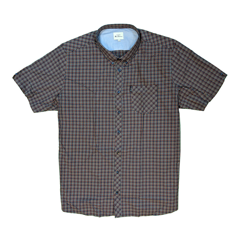Ben Sherman S/S Shirt - 0059089IL - Peach 1