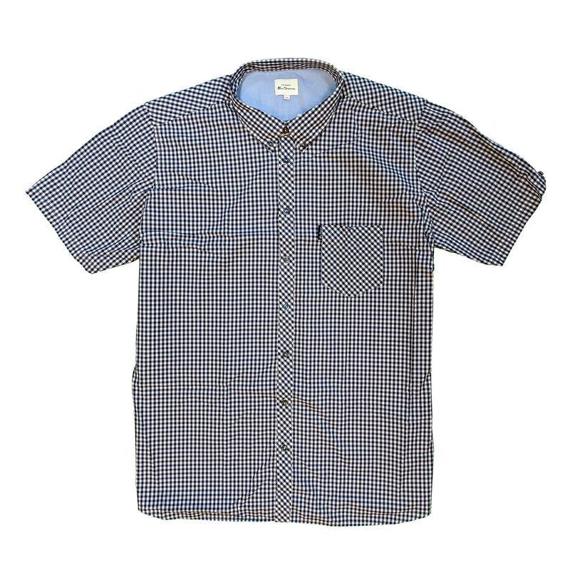 Ben Sherman S/S Shirt - 0059142IL - Dark Blue 1