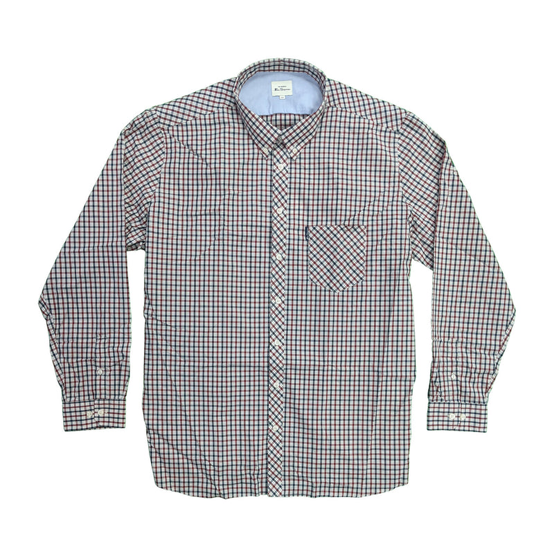 Ben Sherman L/S Shirt - 0059143IL - Red 1