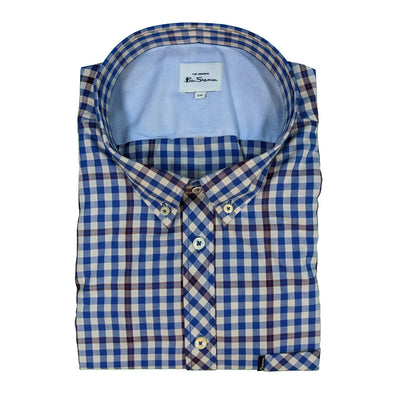 Ben Sherman S/S Shirt - 0061429IL - Persian Blue 1