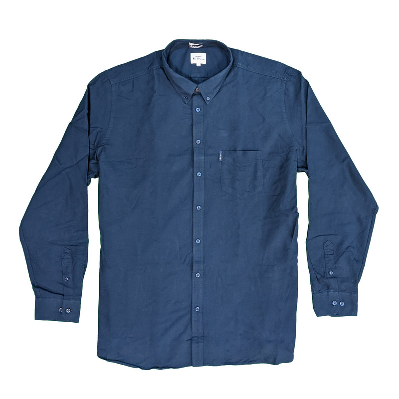 Ben Sherman L/S Oxford Shirt - 0065094IL - Dark Navy 1