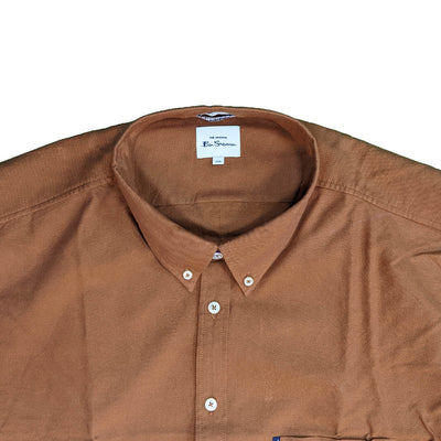 Ben Sherman L/S Oxford Shirt - 0065094IL - Gold Metal 3