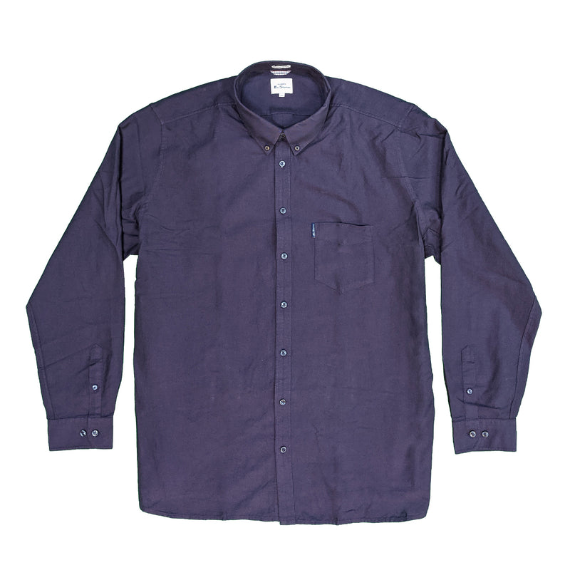 Ben Sherman L/S Oxford Shirt - 0065094IL - Purple 1
