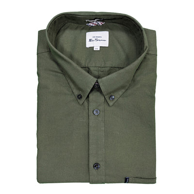 Ben Sherman S/S Oxford Shirt - 0065095IL - Loden 1