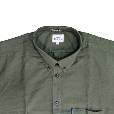 Ben Sherman S/S Oxford Shirt - 0065095IL - Loden 3