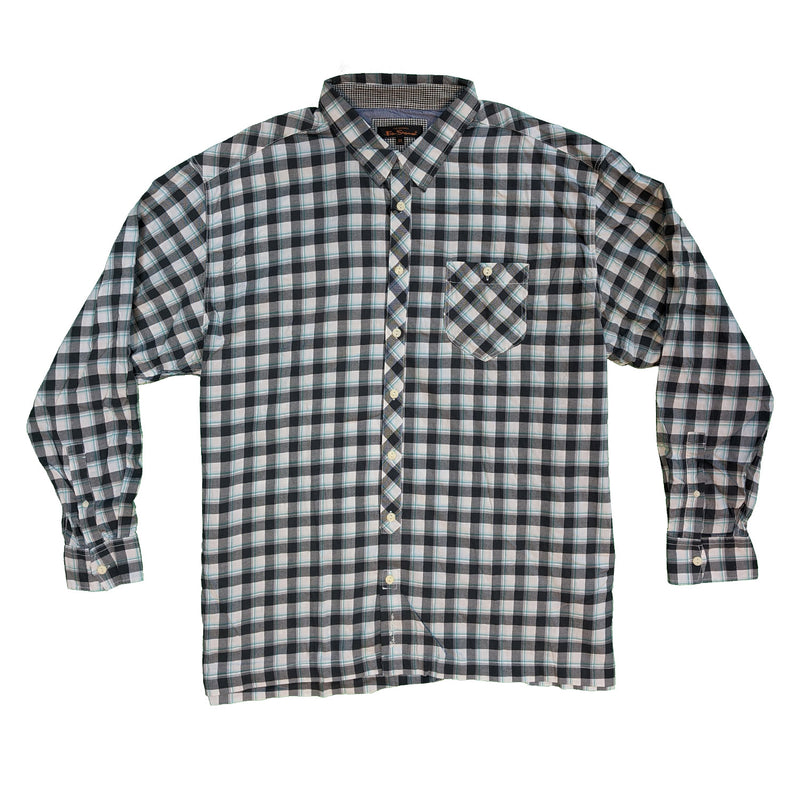 Ben Sherman L/S Shirt - MB1219UL - Coal 1