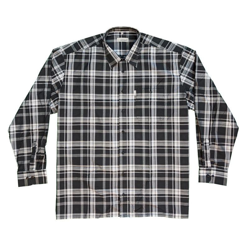 Cattani L/S Shirt - 40198 - Black / Grey 1