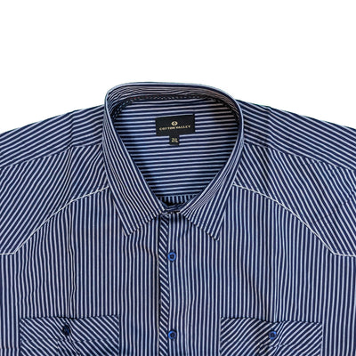 Cotton Valley S/S Shirt - 14152 - Navy 3
