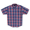 Cotton Valley S/S Shirt - 14181 - Navy / Red / Orange 2