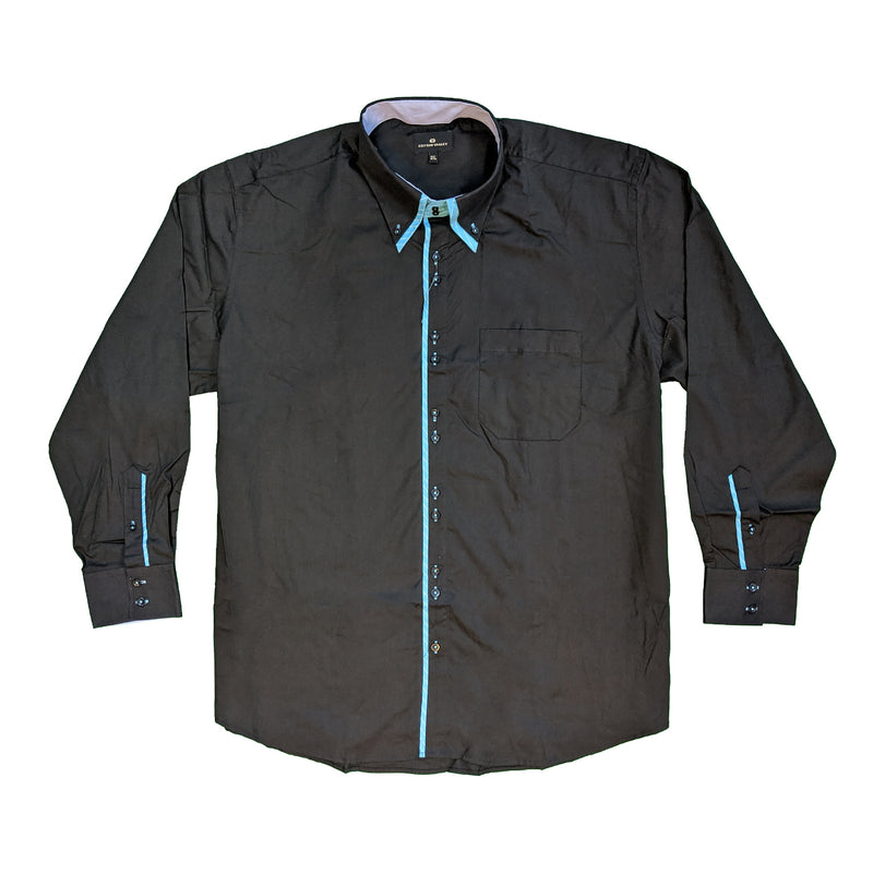 Cotton Valley L/S Shirt - 15540 - Black 1
