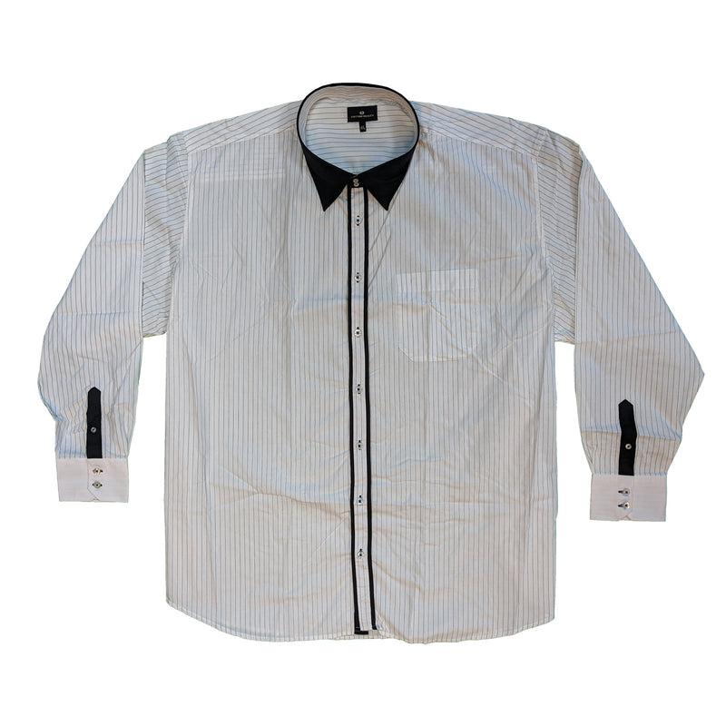 Cotton Valley L/S Stripe Shirt - 15542 - White 1