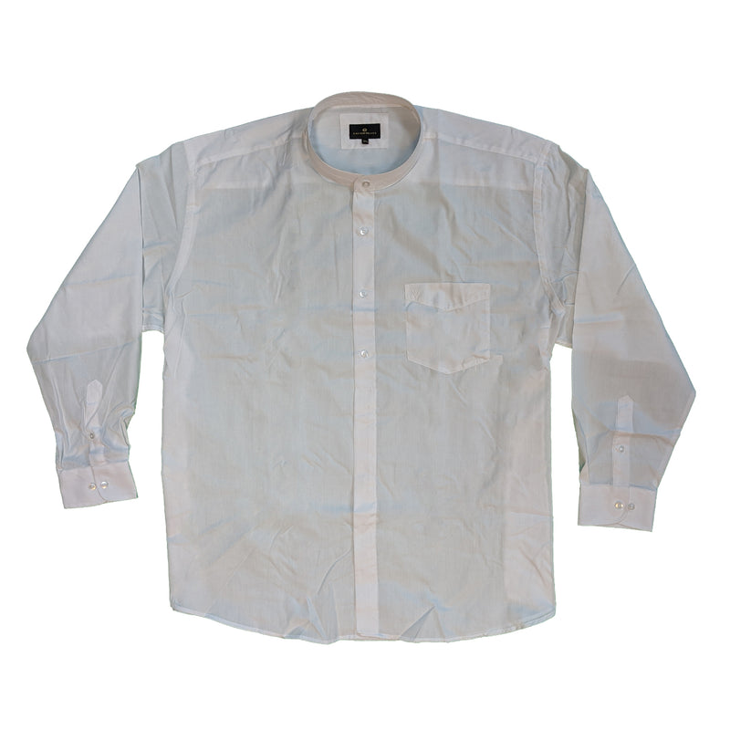 Cotton Valley L/S Grandad Collar Shirt - 15615 - White 1