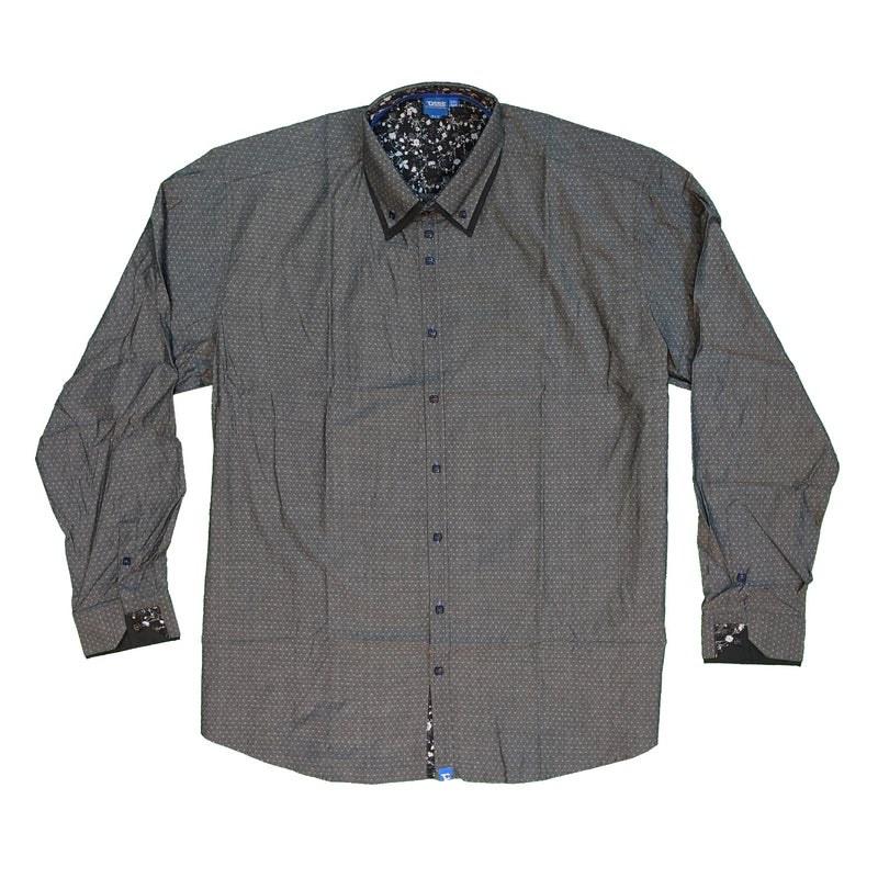 D555 L/S Shirt - KS11307 - Gabriel - Grey / Black 1