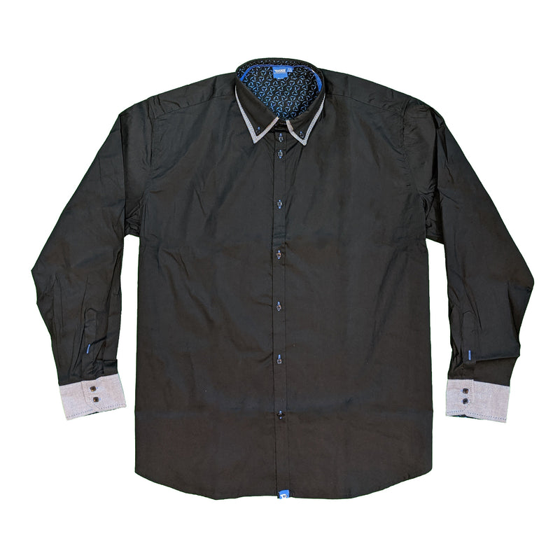 D555 L/S Shirt - KS11308 - Rafael - Black / Grey 1