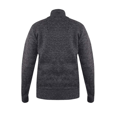 D555 Full Zip Sweater - Sherwood - Black Marl 4