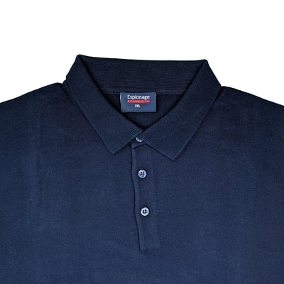 Espionage Long Sleeve Polo Jumper - KW058 - Navy 2