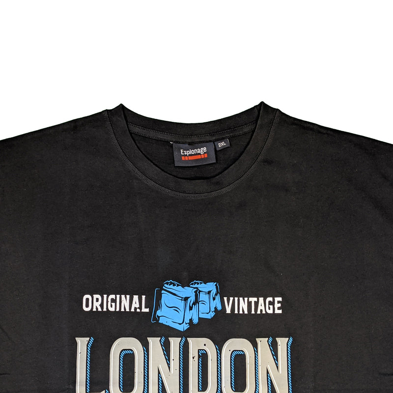 Espionage London Gin Print Tee - T301 - Black 1