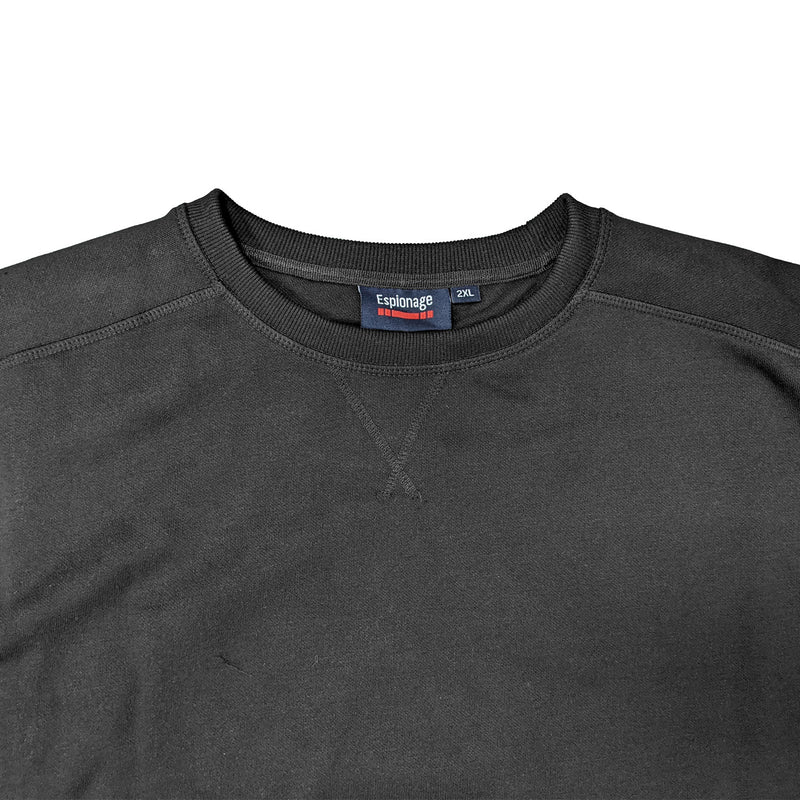 Espionage Plain Sweatshirt - LW016 - Black 1