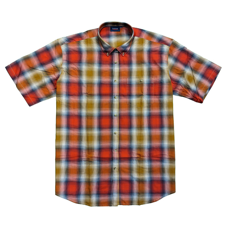 Espionage Shadow Check S/S Shirt - SH331 - Red / Brown / Navy 1
