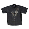 Haft S/S Shirt - Royal - Black 2