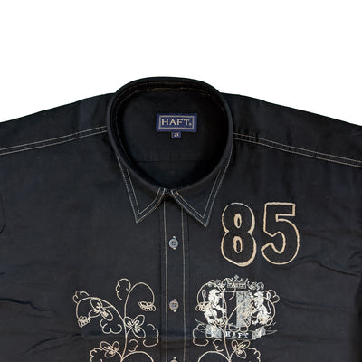 Haft S/S Shirt - Royal - Black 3