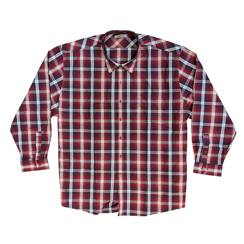 Haggar L/S Shirt - HG3040356 - Maple Red 1