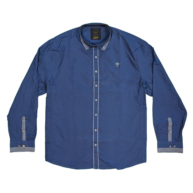 Hamnett L/S Shirt - DF220 - Navy 1